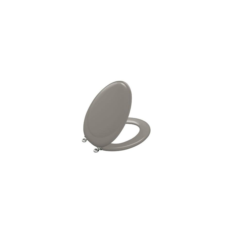 Kohler K 4615 CP K4 Revival Toilet Seat with Polished Chrome Hinges, Cashmere