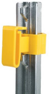 Dare Products 2334-25 Electric Fence Insulator, Studded T-Post Tape, Yellow, 25-Pk. - Quantity 10