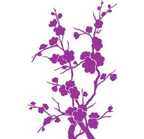Design fiore decorazione casa, Vinyl sticker, adesivi, H = 50cm, W = 50cm