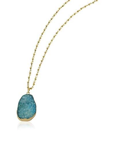 Elise M. Zanzibar Large Turquoise Druzy Stone Long Necklace