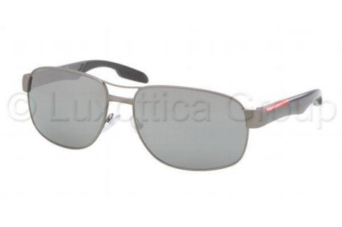 prada Prada Sport PS58NS Sunglasses-7CQ/7W1 Gunmetal (Gray Mirror Silver Lens)-61mm