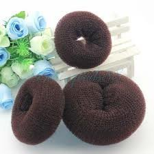 Hot Hair Donut Bun Ring Styler Maker Brown 1 Set 3 Pieces( 1 Small 1 Medium 1 Large)