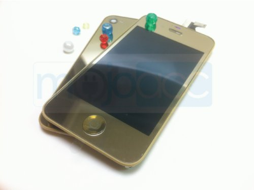 Replacement LCD + Touch Screen Digitizer assembly + Back Case Cover for iPhone 4S – Mirror Gold on sale