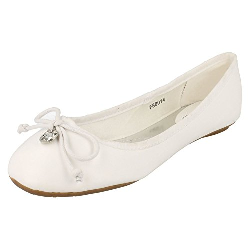Donna Spot On Ballerine Scarpe, bianco (White), 39