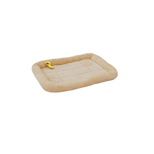 ALEKO® PCM02S Soft Plush Beige Comfy Pet Bed Cushion Mat for Dogs and Cats, Small