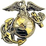 US Marine Corps Emblem, B2, Left Collar Gold Silver USMC Pin