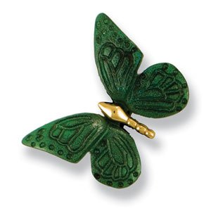 Michael Healy Designs MHR17 Monarch Butterfly Doorbell Ringer, Brass/Bronze