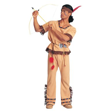 Mens Native American Warrior Halloween Costume