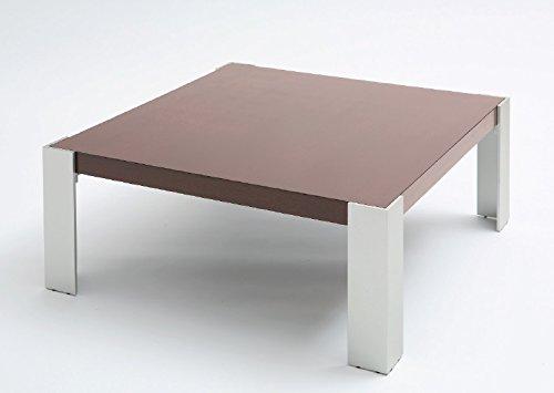 Tavolo da saotto SHAULA - Cm 130 x 70 x h.40 - Colore: Verniciato Cromo - Piano in legno di ciliegio - 100% MADE IN ITALY -