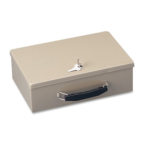 STEELMASTER Fire-Retardant Steel Security Box Includes 2 Keys Sand 221614003B00006ICA9 : image