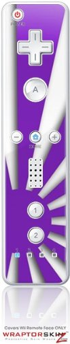 Wii Remote Controller Skin - Rising Sun Japanese Purple by WraptorSkinzTM