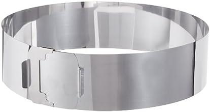 Zenker 2470 Cercle à pâtisserie en acier inoxydable avec deux poignées 30 cm