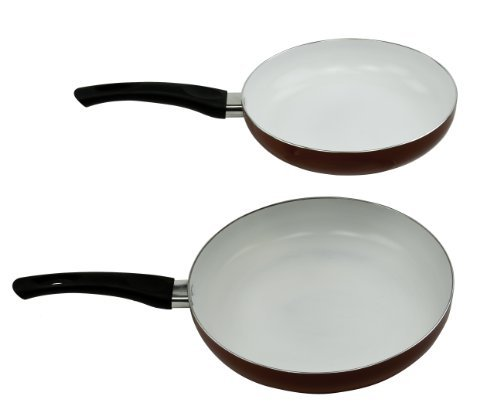 Healthy Nonstick Ceramic Coated Frying Pan Set - 9.5