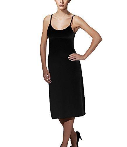 Doreanse Underwear Knielanges Damen Unterkleid Midi mit Trägern Damen Unterrock Damen Nachthemd