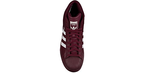 Adidas PRO MODEL mens fashion-sneakers B39370_10.5 - Maroon/White/Maroon