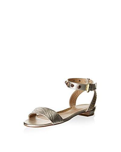 Borbonese Sandale platinum
