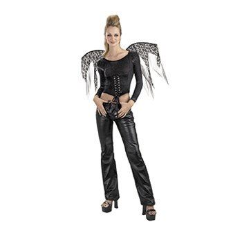 Wings Black Lace Corset Adult Women's Costume - Halloween Costumes & Women's Costumes