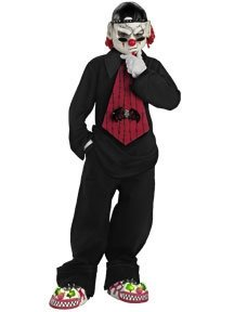 Gothic Street Mime Kids Costume