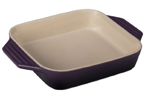 Le Creuset Stoneware Square Dish, 9.5-Inch, Cassis