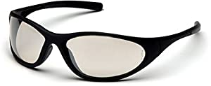 Pyramex Zone II Safety Glasses - Indoor/Outdoor Mirror Lens, Matte Black Frame SB3380E