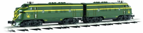 Williams By Bachmann Trains F3 Scale Diesel Locomotive Set - Jersey Central - Green/Cream - O Scale