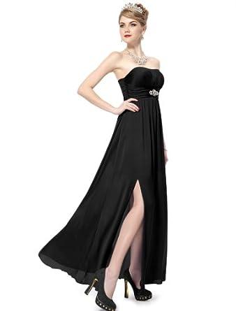 HE09698BK18, Black, 16US, Ever Pretty Strapless Dresses For Cocktail 09698