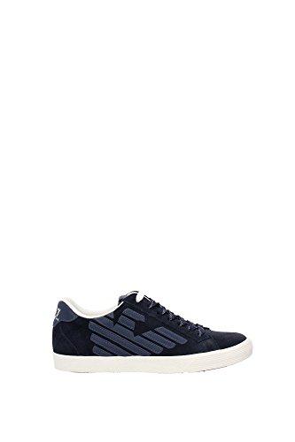 Sneakers Armani Emporio Donna Camoscio Blu 278038CC29906935 Blu 37 1/3EU