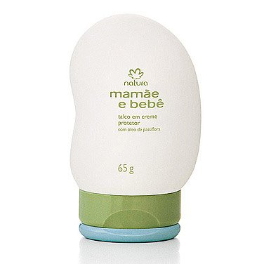 Linha Mamae Bebe Natura - Talco em Creme Protetor Com Oleo de Passiflora (Flor de Maracuja) 65 Gr - (Natura Mom and Baby Collection - Protective Cream Talc Enriched with Passiflora Oil (Passion Fruit Flower) Net 2.3 Oz) - 1