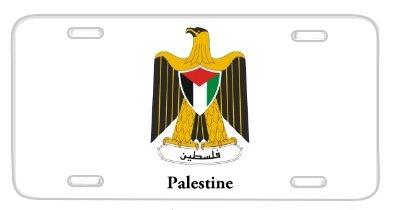 Palestine Coat of Arms Emblem Flag Metal Auto License Plate