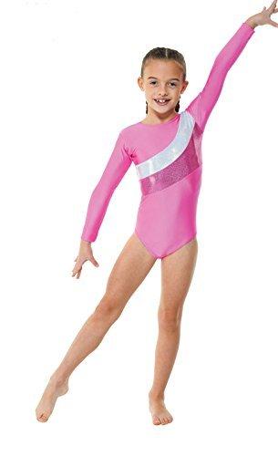 girls-lycra-gymnastics-leotard-with-foil-stripes-pink-or-purple-gym19-pink-4-5-years