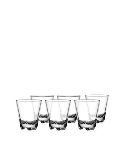 Bar Luxe Set of 6 Vero Short Glasses, Clear