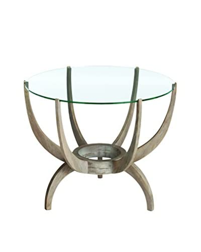 Arteriors Home Oswald Side Table, Beige/Clear
