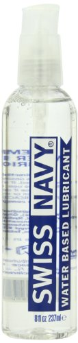 MD Science Labs Swiss Navy Water Based Personal Lubricant, 8 Ounce