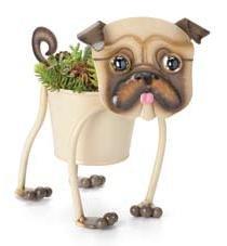 Painted Pug Mini-Planter