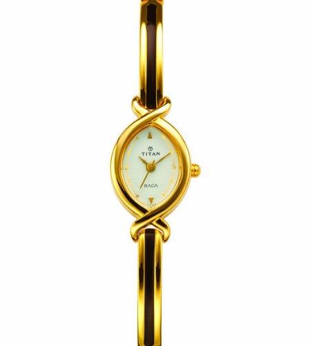db7d6099b32 Titan Women s 2251YM01 Raga Jewelry Inspired Gold Tone Watch ...