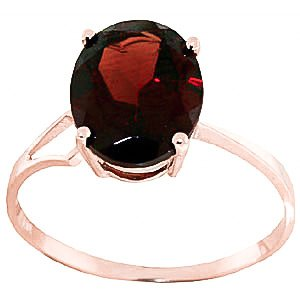 QP Jewellers Natural Garnet Ring in 9ct Rose Gold, 2.20ct Oval Cut - 2035R