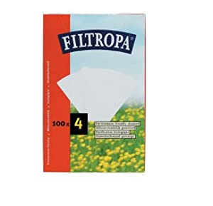 Filtropa White Coffee Filters #4 - 100 Count by Kitchen Craft