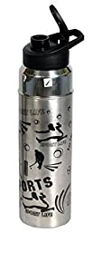 Insulated thick gauge stainless steel outer body water bottle. Higher Durability. Leak proof. Food grade. Rust proof. Hygenic and 100% virgin material. Now keep things cool, healthy & fresh for longer hours. Easy to drink and carry. Usefu...