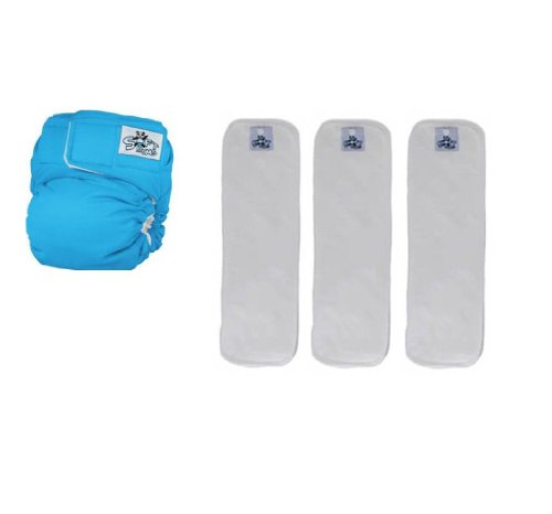 Softbums Echo Shell With 3 Large Dry Touch Pods (Ocean)
