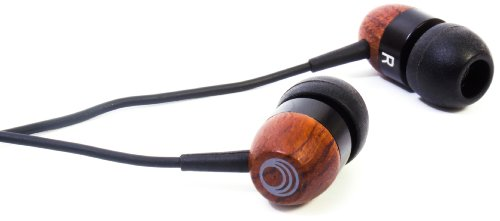 Thinksound Ts01 10Mm High Definition Passive Noise Isolating Wooden Headphone (Black/Chocolate)