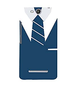 Shirt T-Shirt Tie Graphical 3D Hard Polycarbonate Designer Back Case Cover for Micromax Canvas Juice 3+ Q394 :: Micromax Canvas Juice 3Plus Q394