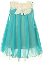 Kid39s Dream Girl39s Turquoise Lovely Silk Chiffon Girl Dress