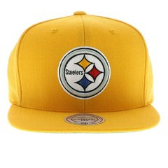Pittsburgh Steelers Yellow Snapback Hat - NFL Mitchell & Ness Gold Cap by M&N