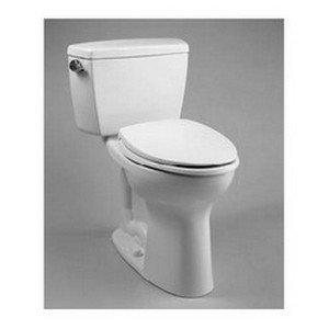 TOTO CST744SL#01 Drake 2-Piece Ada Toilet with Elongated Bowl, Cotton White photo