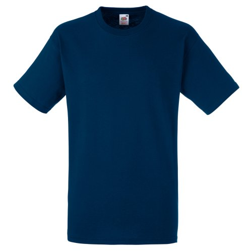 Fruit Of The Loom Screen Stars Original T-Shirt für Männer (M) (Marineblau)