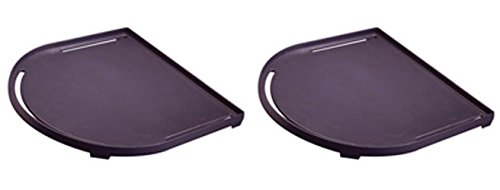 (2) Coleman Outdoor Camping Roadtrip Cast-Iron Non-Stick Griddles - 142 Sq In