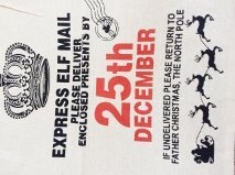 traditional 25th December christmas sack
