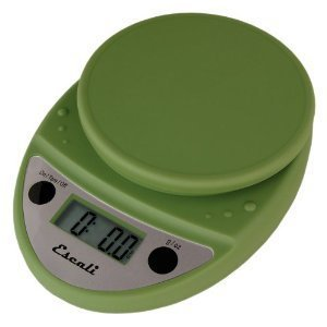 Premium High Quality Primo Digital Kitchen Scale 11Lb/5Kg Tarragon Green by Escali