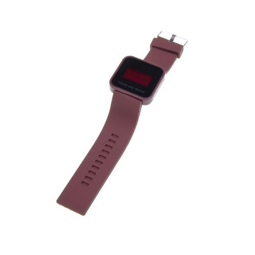 Bestdealusa Cool Brown Touch Screen Digital Led Wrist Watch Silicone Band