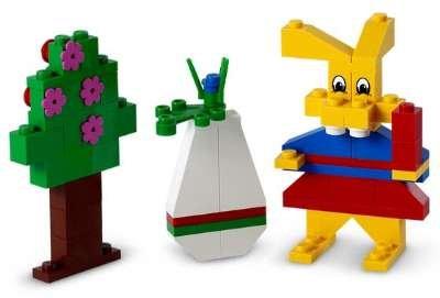 lego mrs easter bunny set